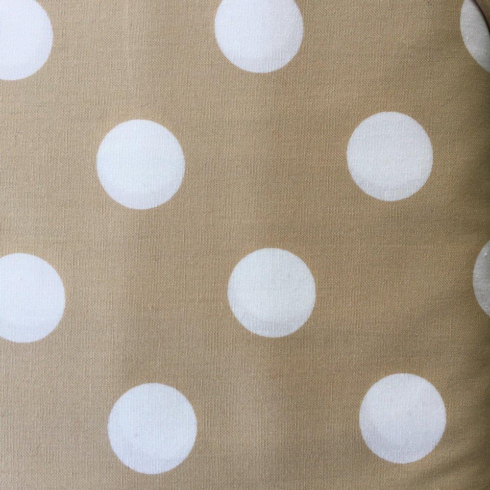 Extra Large Dot White on Beige