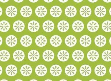 Fancywork Box - Daisy Dots in Green
