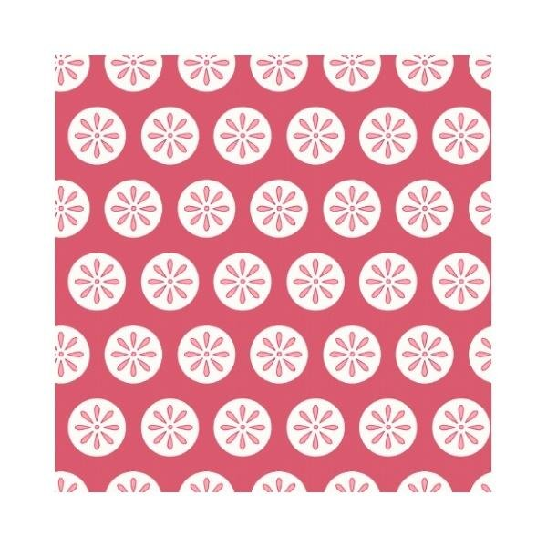Fancywork Box - Daisy Dots in Red