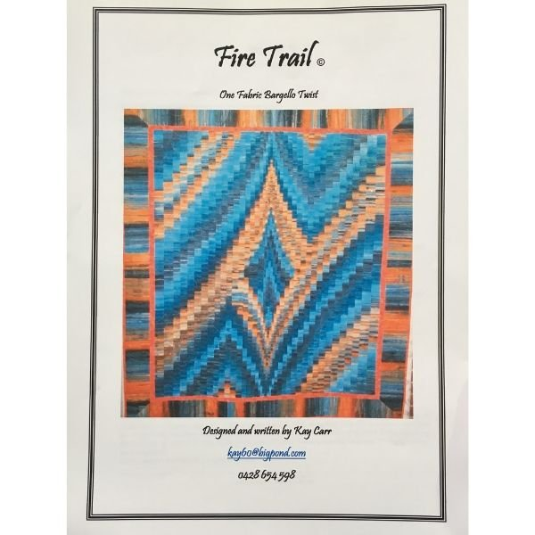 Fire Trail Bargello Pattern