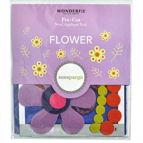 Sue Spargo - Flower Wool Applique Pack