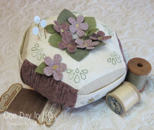 For the Love of Violets - Pincushion Pattern