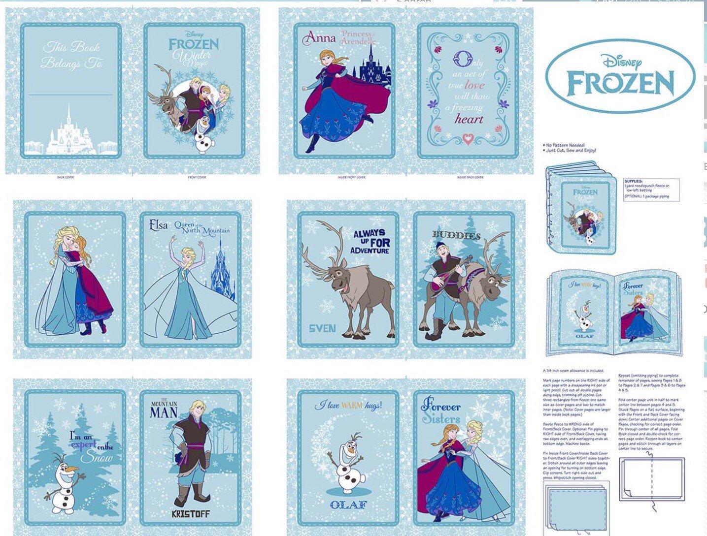 Frozen Anna's Friends Soft Book Panel