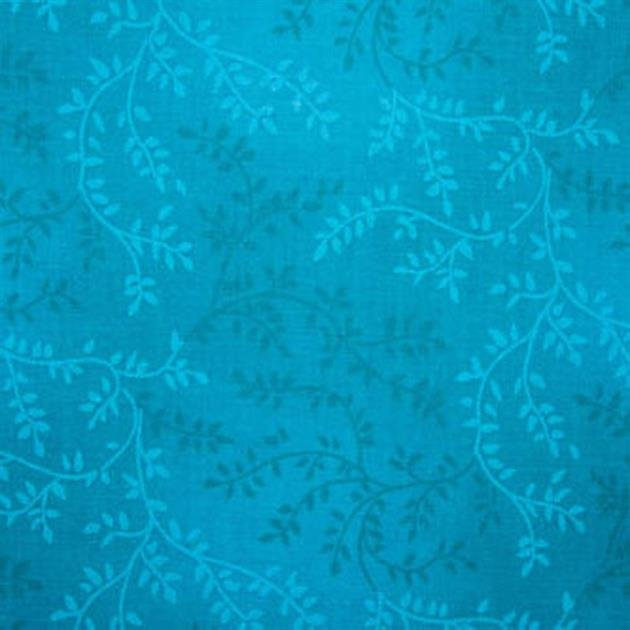Triple Vine Quilt Backing - 108 - Turquoise