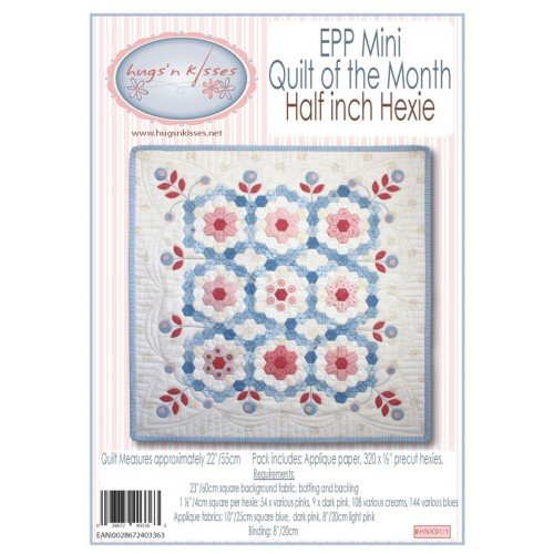 EPP Mini Quilt of the Month - Half Inch Hexie