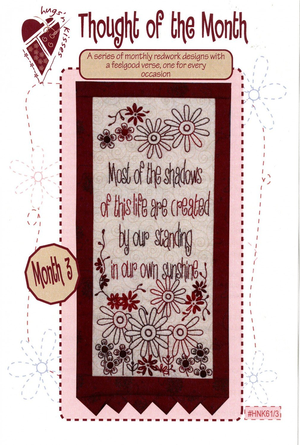 Thought of the Month - Block Three Stitchery