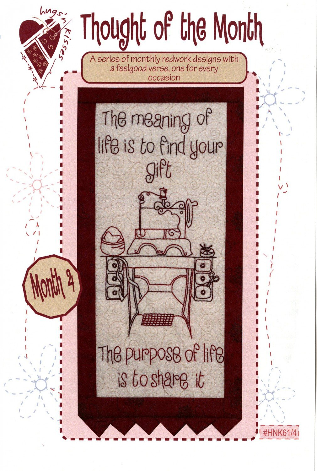 Thought of the Month - Block Four Stitchery