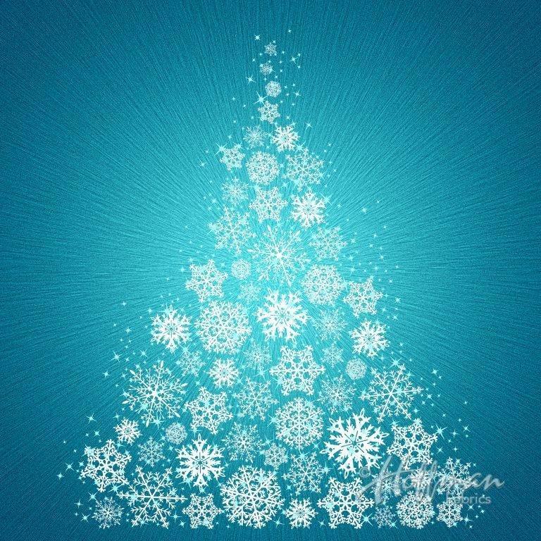 Hoffman Christmas 2017 Turquoise - Panel