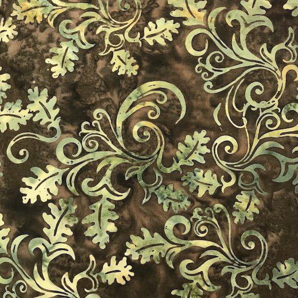 Bali Batiks - Oak Leaves Brown