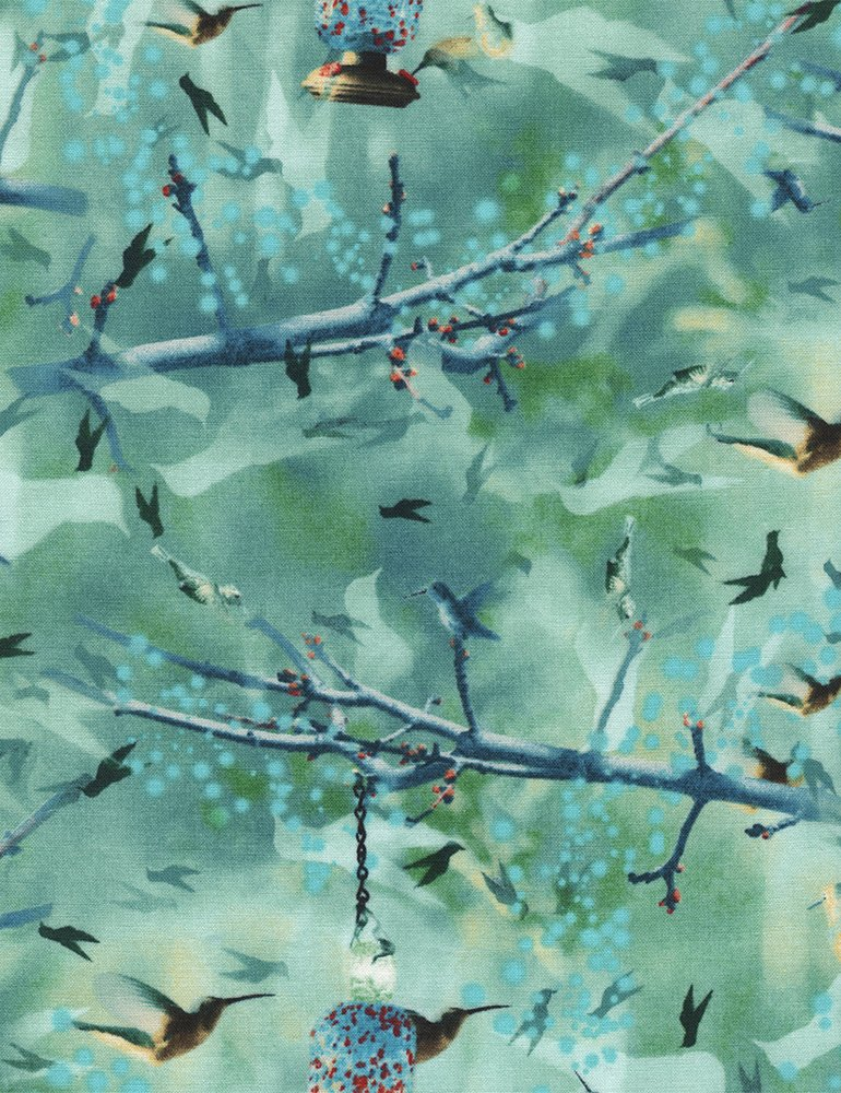 Wildflower Hummingbirds - Jade