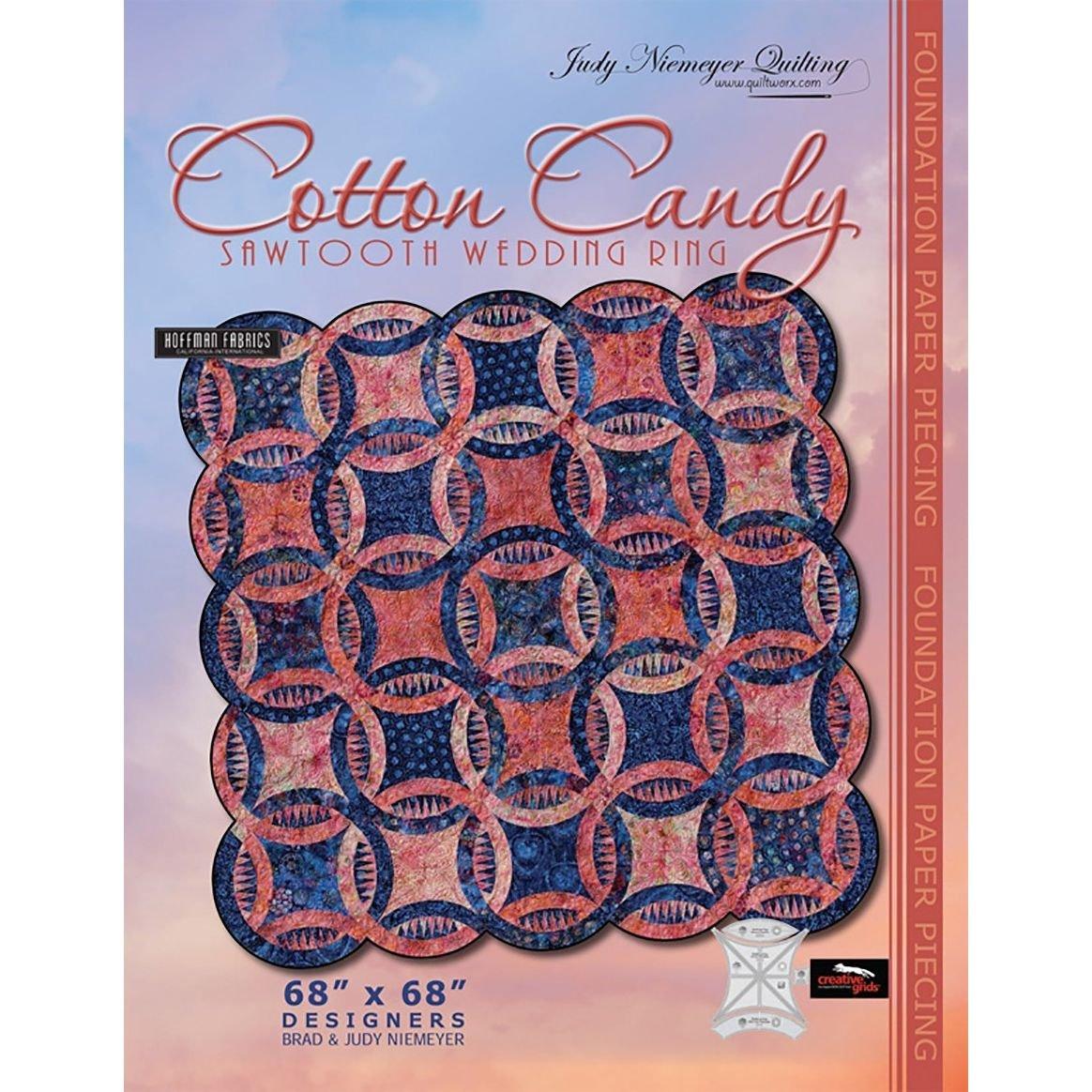 Cotton Candy Sawtooth Wedding Ring Pattern
