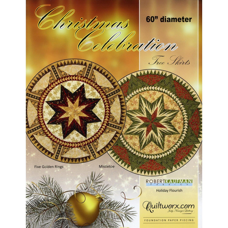 Christmas Celebration Tree Skirt Pattern