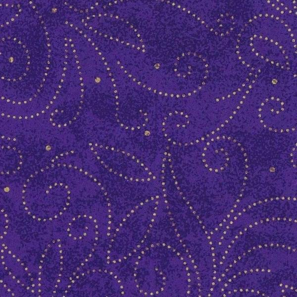 Marble Scroll - Purple 280cm wide
