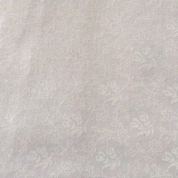 White Tone on Tone Floral Print