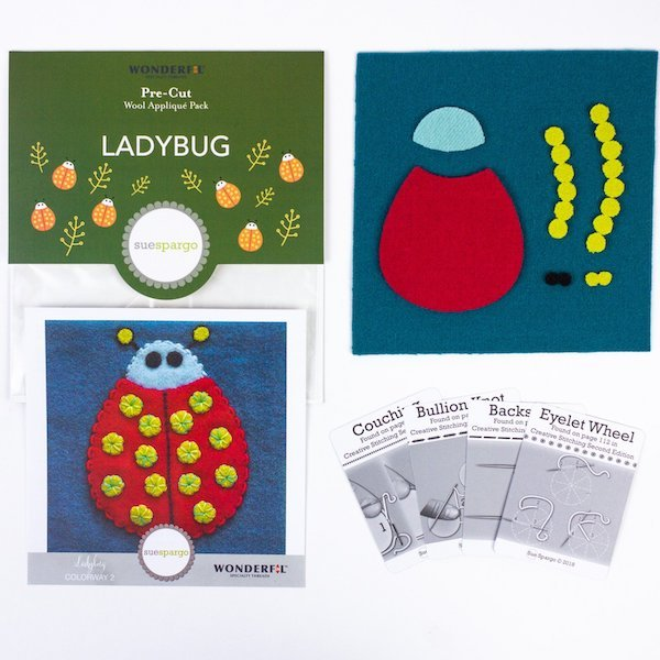 Sue Spargo - Ladybug Wool Applique Pack
