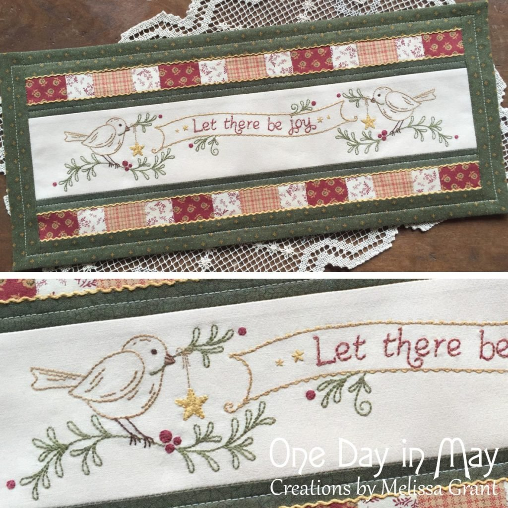 Let There Be Joy Table Mat Pattern