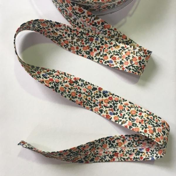 Liberty Cotton Bias Binding - Orange