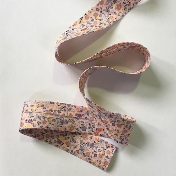 Liberty Cotton Bias Binding - Pink