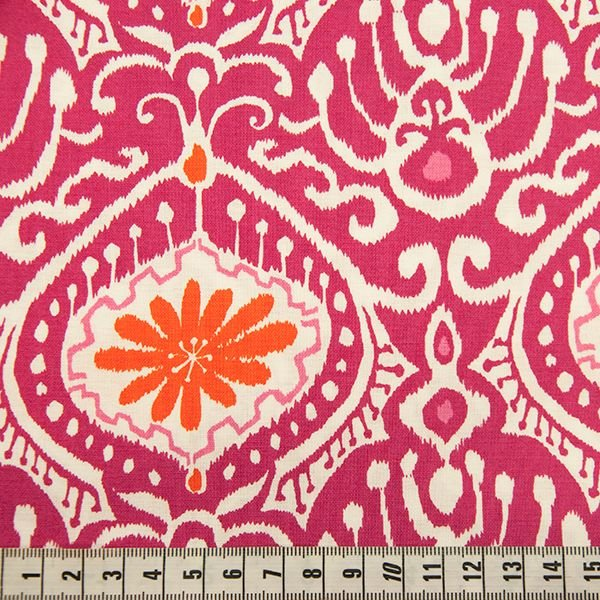 Cuzco - Modern Hourglass Pink Print with Orange Flower