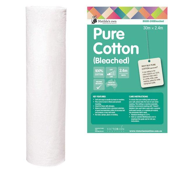 Cotton Wadding 2.4m Wide