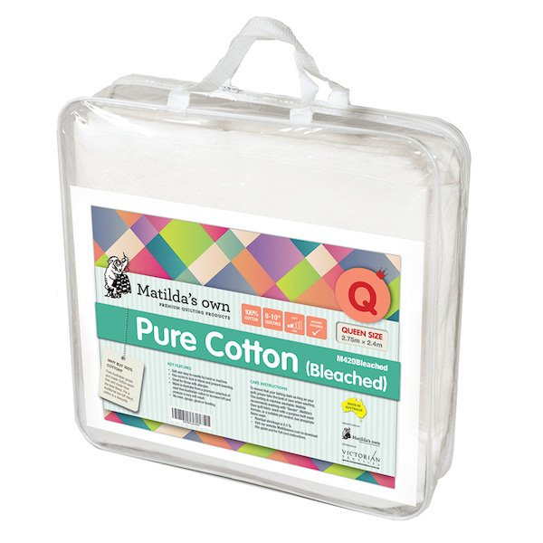 Pure Cotton (BLEACHED) Queen Wadding Pack