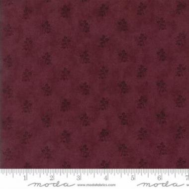 Courtyard Bordeau - Floral Rosebud Purple