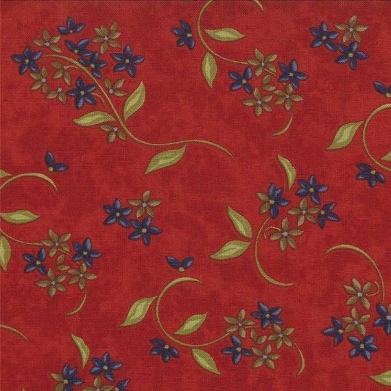 Woodland Summer Prints - Sprigs - Red
