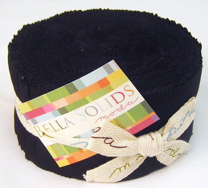 Bella Solids Jelly Roll - Black