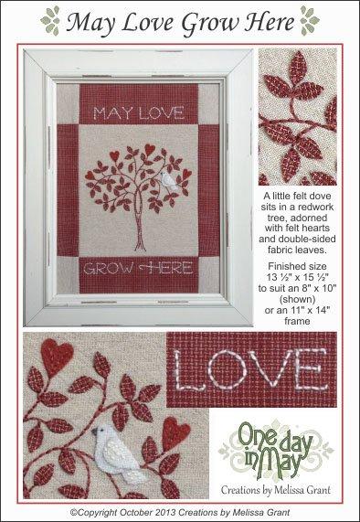May Love Grow Here Needlework Pattern