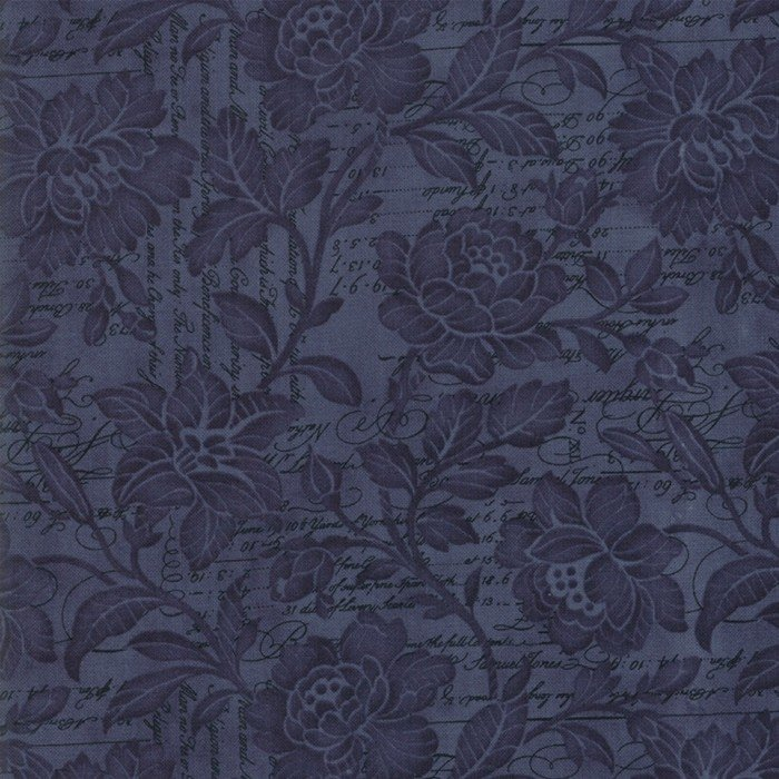 Memoirs - Flourish Script - Indigo - 108 Wide