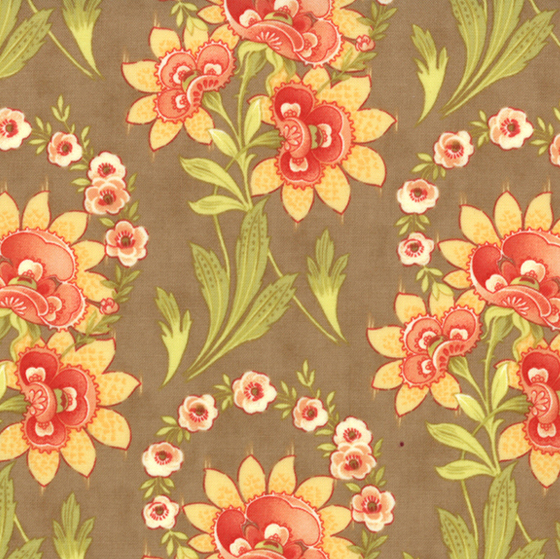 Tapestry - Large Floral - Taupe