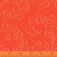 Modern Cloud Orange 108 inch wide