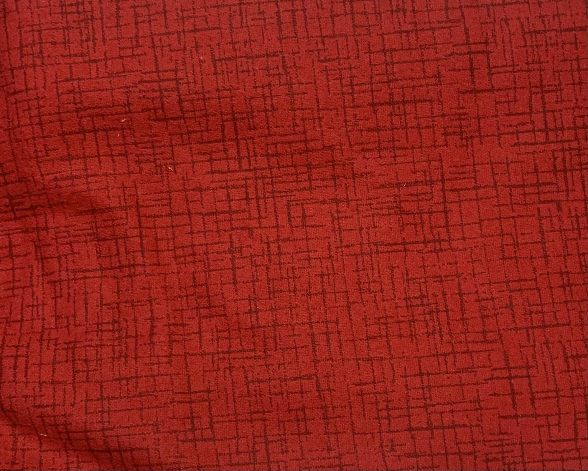 Flannel Pre-Cut - 2.5M - Monaco - Red 108