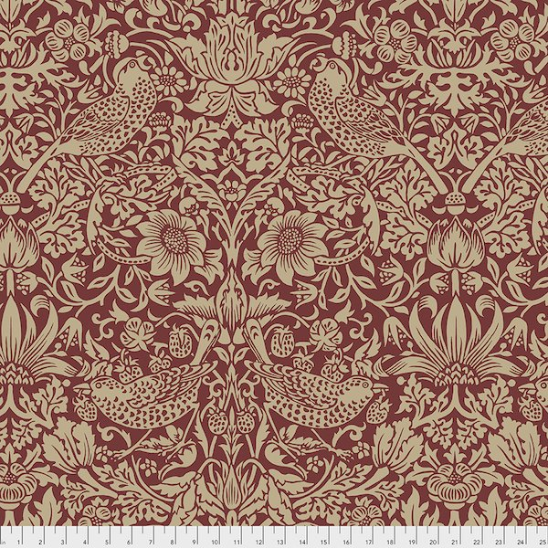 Morris & Co Strawberry Thief - Red - 108 Wide