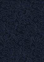 Navy with Silver print 280cm wide