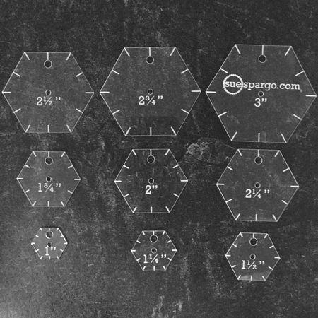 Sue Spargo - Hexagon Easy Template Set