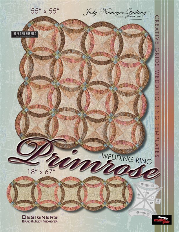 Primrose Wedding Ring Quilt & Bed Runner Pattern