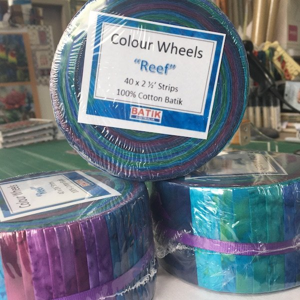 Batik Colour Wheels - Reef