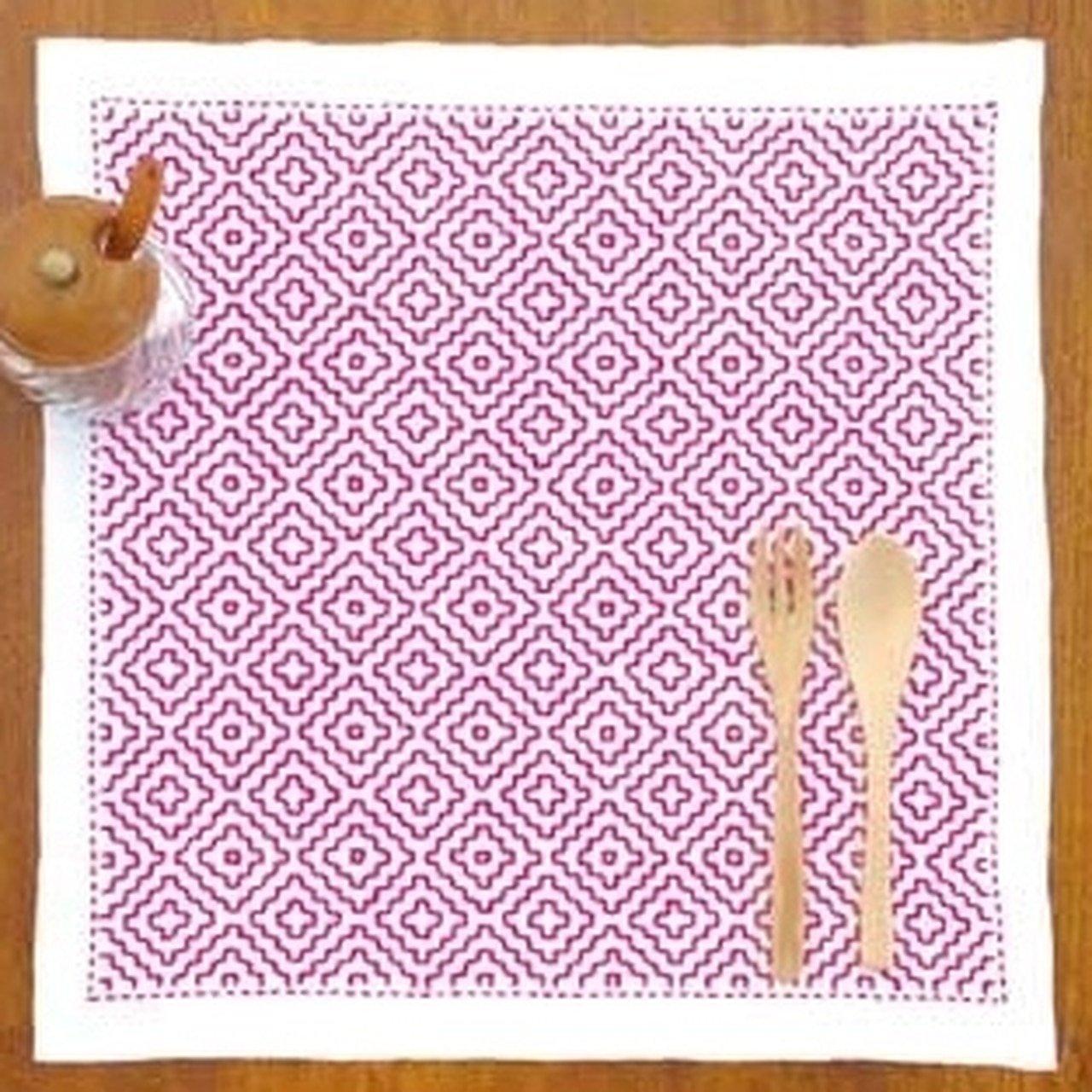 Sashiko Kit Persimmon - Pink