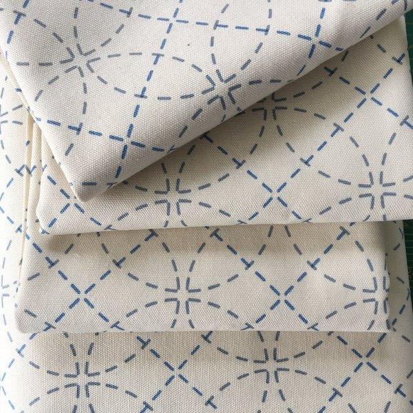 Sashiko Fabric Interlocking Circles - 30cm Pre-Cut