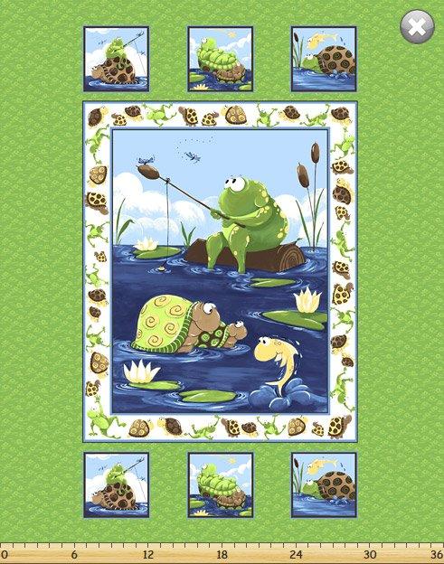 Turtle and Frog Panel