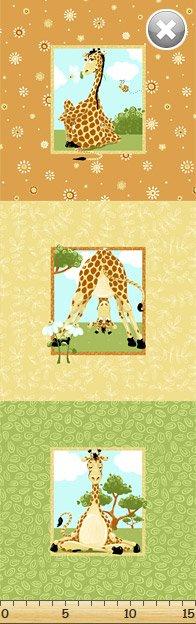 Susybee Pillow Panel - Zoe the Giraffe