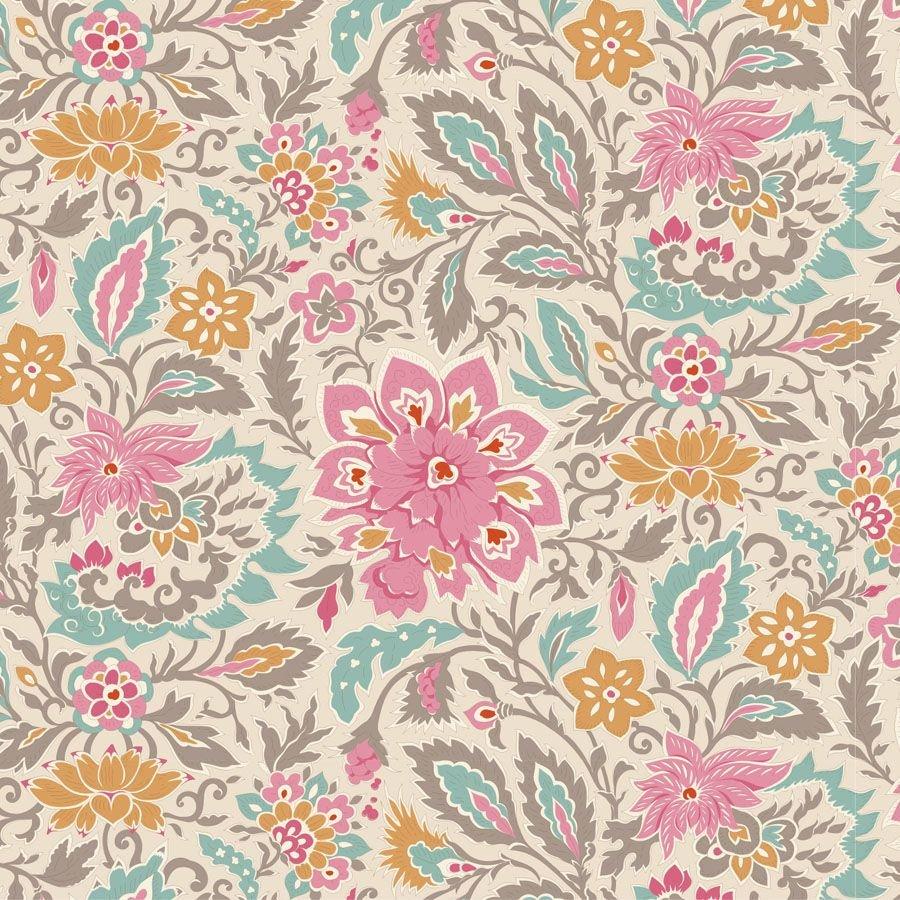 PRE-ORDER  - Tilda - Windy Days - Skyler Floral Grey