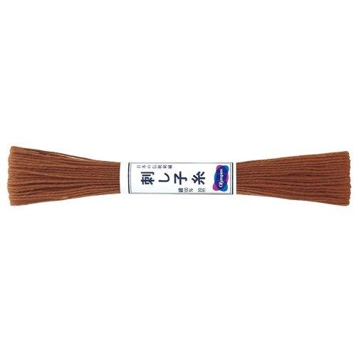 Sashiko Thread Solid Brown 20m