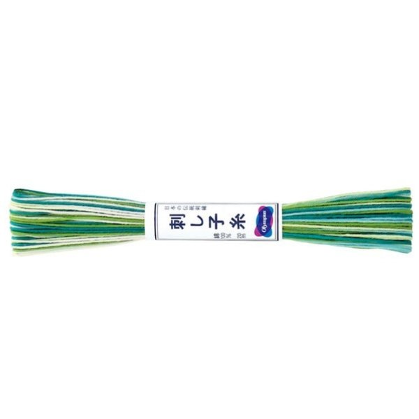 Sashiko Thread Variegated Green 20m