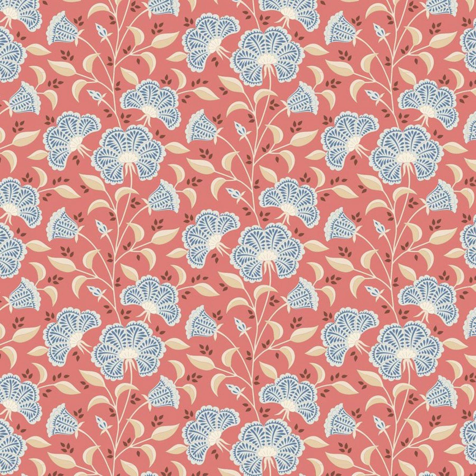 PRE-ORDER  - Tilda - Windy Days - Stormy Floral Coral