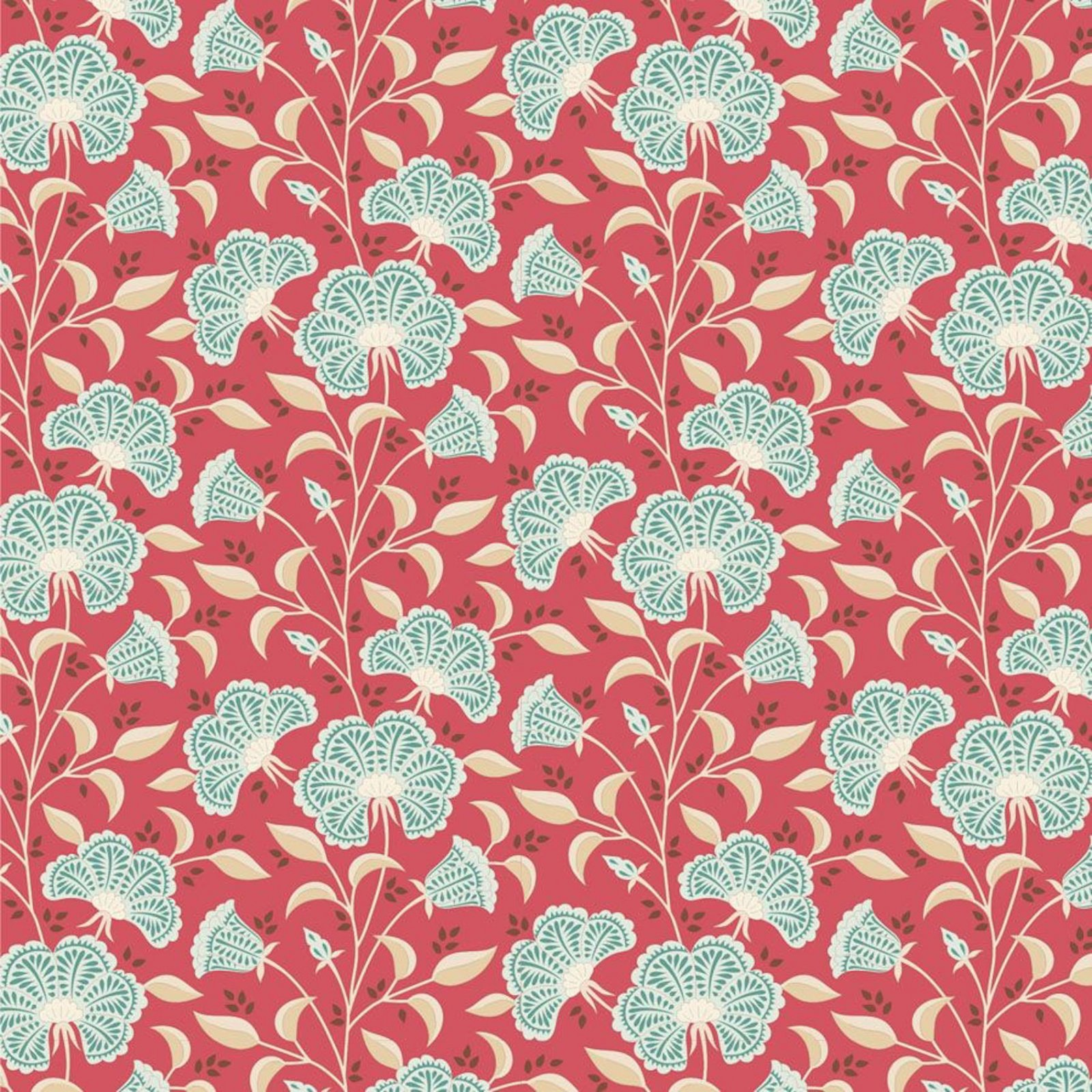 PRE-ORDER  - Tilda - Windy Days - Stormy Floral Dusty Red