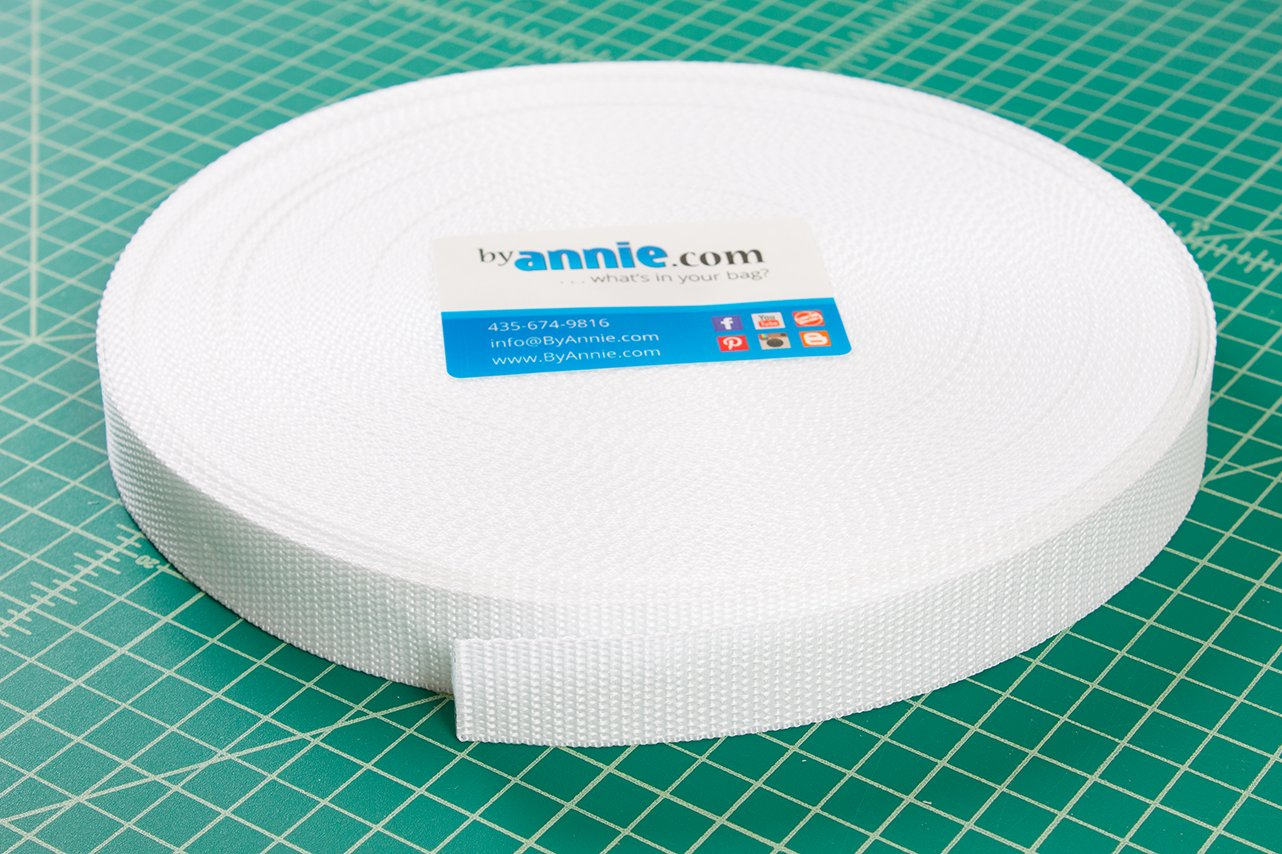 byAnnie Bag Strapping - 1 Wide - White