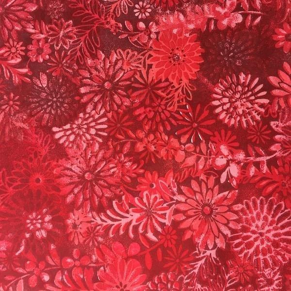 Floral - Red - 3 metre Pre-Cut