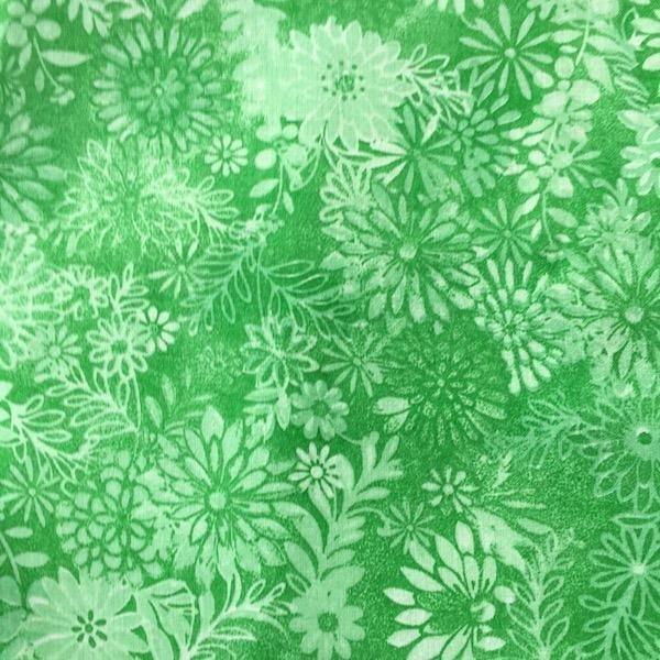 Floral - Green - 3 metre Pre-Cut
